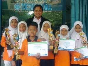 Borong Piala di Lomba Matematika PRIMAGAMA SOLO RAYA